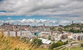 Wide view of Edinburgh skyline Royalty Free Stock Image