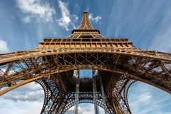Wide View of Eiffel Tower from the Ground, Paris Royalty Free Stock Photo