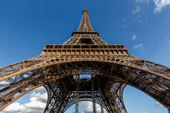 Wide View of Eiffel Tower from the Ground, Paris Royalty Free Stock Photography