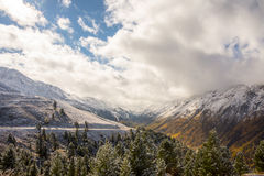 Wide view at the end of a valley Royalty Free Stock Images