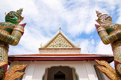 Wide view at the front of Wat Arun Stock Photos