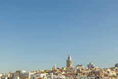 Wide view of Galata Tower Istanbul Stock Photo