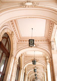 Wide view of hallway with arcades Stock Photo