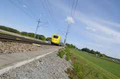 Wide view of high-speed train Royalty Free Stock Image