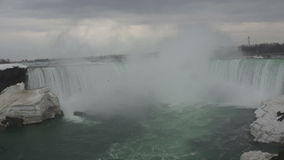Wide view of Horseshoe Fall in Niagara Falls Stock Photos