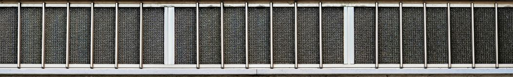 Large aluminum window. Wide view of large aluminum window with frosted glass royalty free stock photo