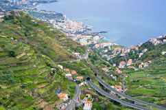 Wide view from. `Levada do Norte`, Madeira island, Portugal Stock Photography