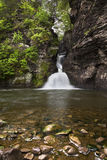 Wide View of Minekill Falls. Wide view of minimill Falls in New York stock photography