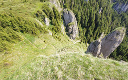Wide view of mountain path Stock Image