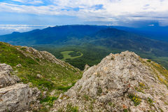 Wide view on mountains Royalty Free Stock Photos