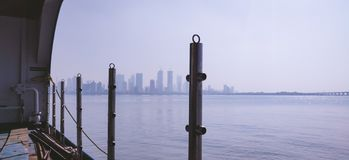 Wide view of mumbai city royalty free stock photography