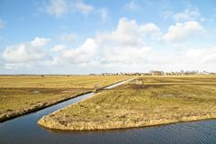 Wide view in the Netherlands Royalty Free Stock Photo