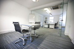 Wide view of office interior Stock Photos