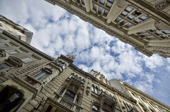Wide view of old buildings Royalty Free Stock Images