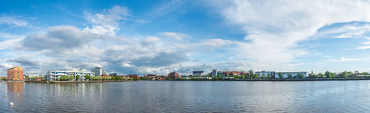 Wide view of Old Trafford stadium Stock Image
