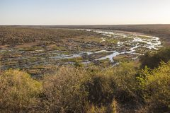 Wide view on Olifants river from Camp viewpoint royalty free stock photography