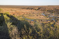 Wide view on Olifants river from Camp viewpoint stock photos