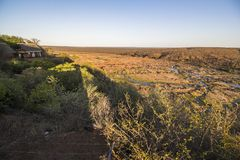Wide view on Olifants river from Camp viewpoint royalty free stock photo
