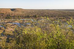 Wide view on Olifants river from Camp viewpoint royalty free stock image