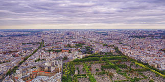 Wide view of Paris city Stock Image