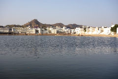 Wide View of Pushkar Lake 2 Royalty Free Stock Images