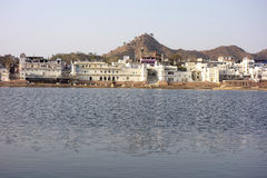 Wide View of Pushkar Lake Royalty Free Stock Photo