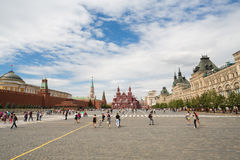 A wide view of Red Square, the Mausoleum Royalty Free Stock Photo