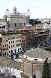 Wide view of Rome city from Palatino Stock Photo