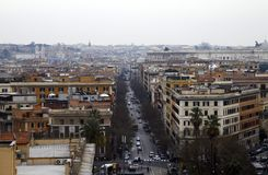 Wide view of Rome city from Vatican Stock Images