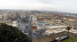 Wide view of Rome city from Vatican Royalty Free Stock Images