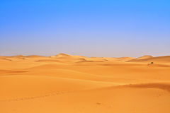 Wide view of sand dunes Royalty Free Stock Photography