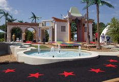Wide view of Shoot for the Stars Mini Golf in Branson, Missouri Royalty Free Stock Image