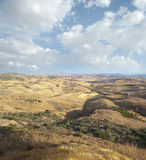 Wide View Of The Sicilian Hinterland Stock Images
