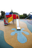 Wide view of slide and painted splash at base Stock Photography