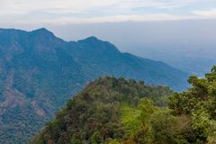 Wide view of Suicide point view at Ooty, India, 19 Aug 2014 royalty free stock photos