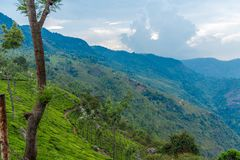 Wide view of Suicide point view at Ooty, India, 19 Aug 2014. Wide view of Suicide point view at Ooty Royalty Free Stock Photos