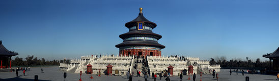 Wide view of Temple of Heaven. At Beijing, China Royalty Free Stock Image