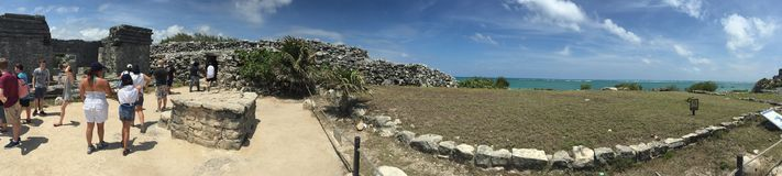 Wide view of Tulum Mexico! Stock Photo
