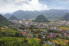 Wide view of the valley, vietnam stock photo