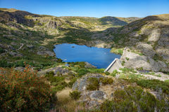 Wide view, Vega de Tera broken dam in Zamora, Spain Royalty Free Stock Images