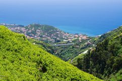 Wide view from. `Levada do Norte`, Madeira island, Portugal Stock Photos
