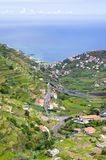 Wide view from. `Levada do Norte`, Madeira island, Portugal Royalty Free Stock Images