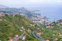 Wide view from. `Levada do Norte`, Madeira island, Portugal Royalty Free Stock Photography