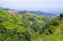 Wide view from. `Levada do Norte`, Madeira island, Portugal Stock Image