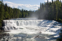 Wide waterfall royalty free stock images