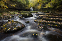 Wide West Burton Falls. Cauldron Falls in all its majestic autumnal glory Stock Photography