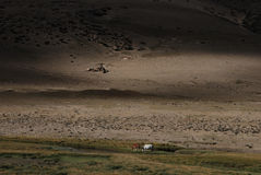 Wide west Tibet. A view  in west  Tibet Royalty Free Stock Photos