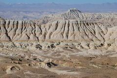 Wide west Tibet. The clay forests in west  Tibet Stock Photos