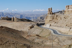 Wide west Tibet. The clay forests in west  Tibet Stock Photo