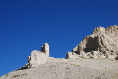 Wide west Tibet. The clay forests in west  Tibet Stock Image